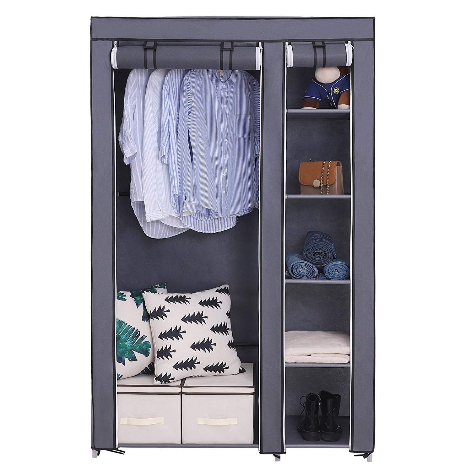 SONGMICS 43-Inch Portable Clothes Closet