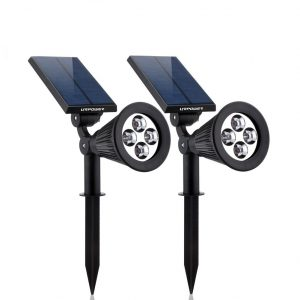 URPOWER 2-IN-1 Waterproof 4 LED Outdoor Solar Lights