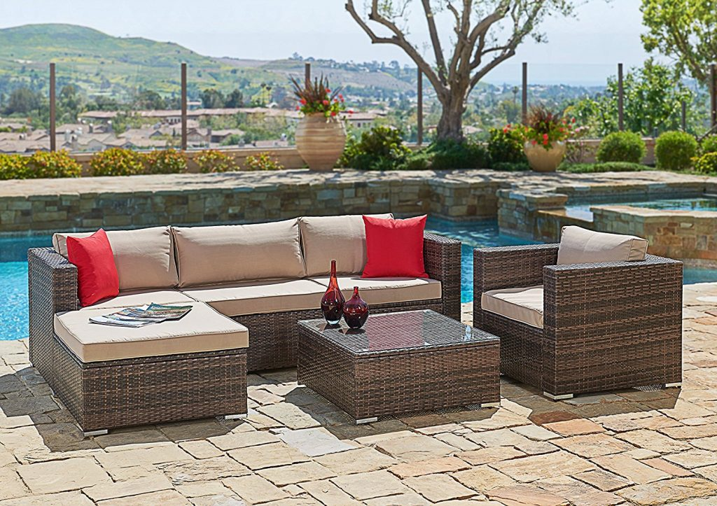 Suncrown Outdoor Furniture Sectional Patio Sofa