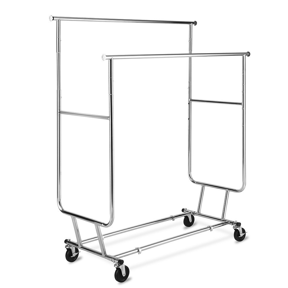 TomCare Garment Rack 250lb Capacity Double Clothes Racks Adjustable