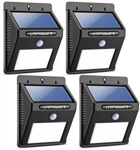 URPOWER 8 LED Wireless Waterproof Outdoor Solar Lights