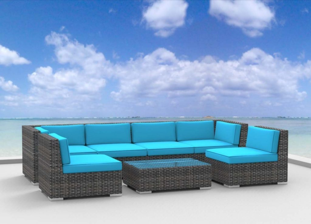 Urban Furnishing Modern Outdoor Rattan Patio Sofa Set
