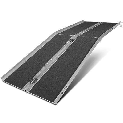 7' ft Aluminum Multifold Wheelchair Scooter Mobility Ramp