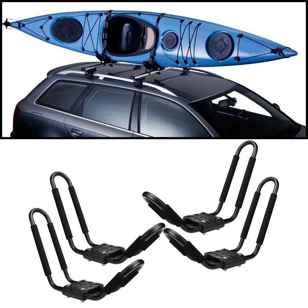 JDM Auto Lights 2 Pair Universal Roof Rack Kayak