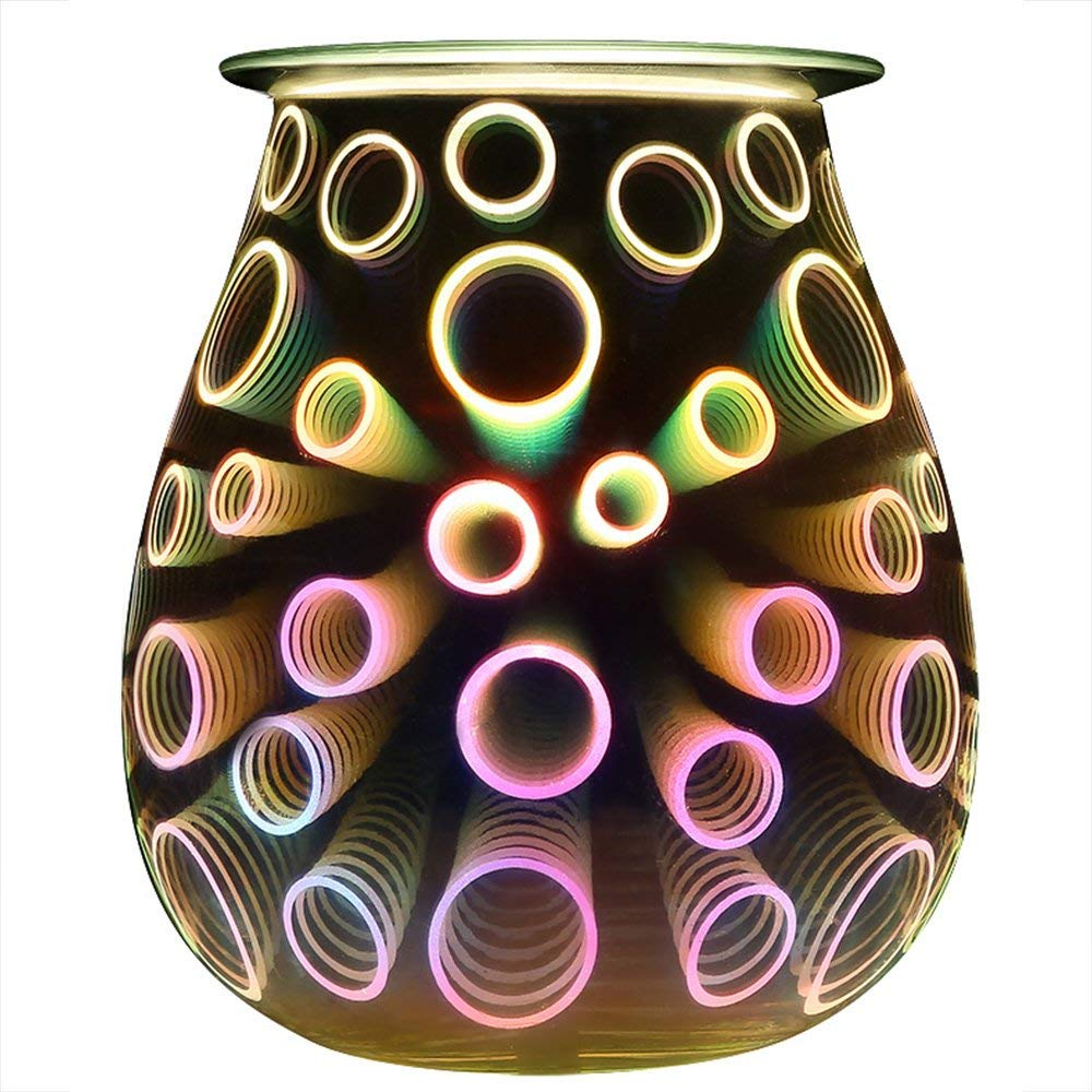 6. COOSA 3D Effect Electric Wax Tart Burner: