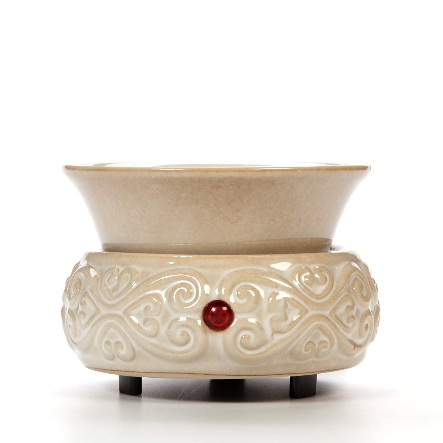 7. Hosley Hosley's Cream Ceramic Fragrance Candle Wax Warmer: