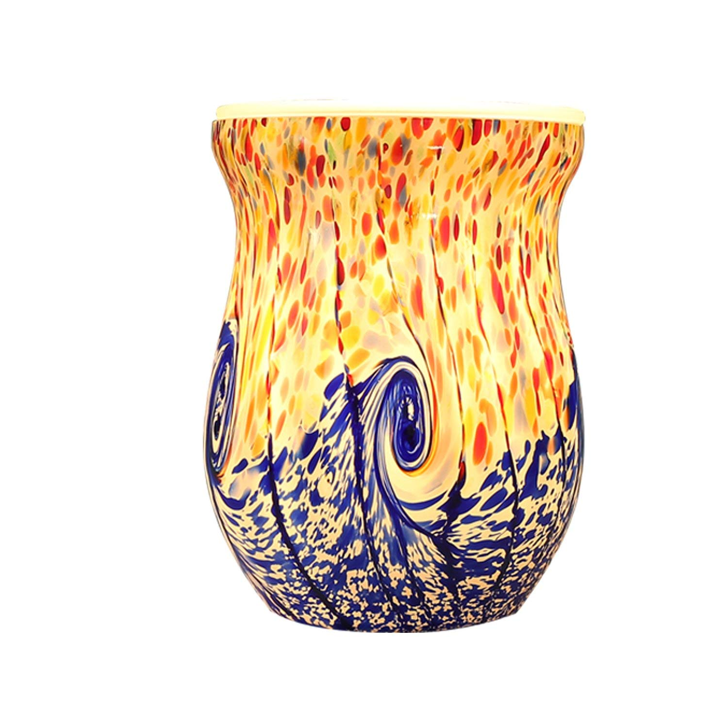 8. COOSA Ocean Wave Glass Electric Incense Oil Warmer Wax Tart Burner: