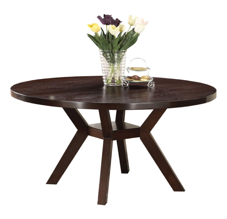 Novogratz Leo Farmhouse Round Dining Table