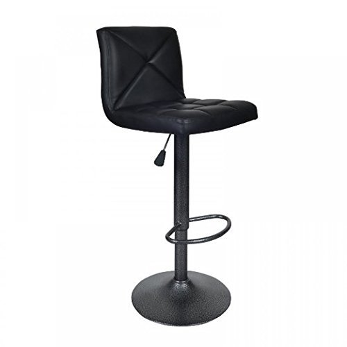 BestOffice Black 2 PU Leather Stool