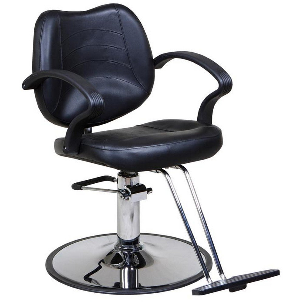 "Icarus ""Mae"" Black Classic Beauty Makeup Chair of Hydraulic Style"