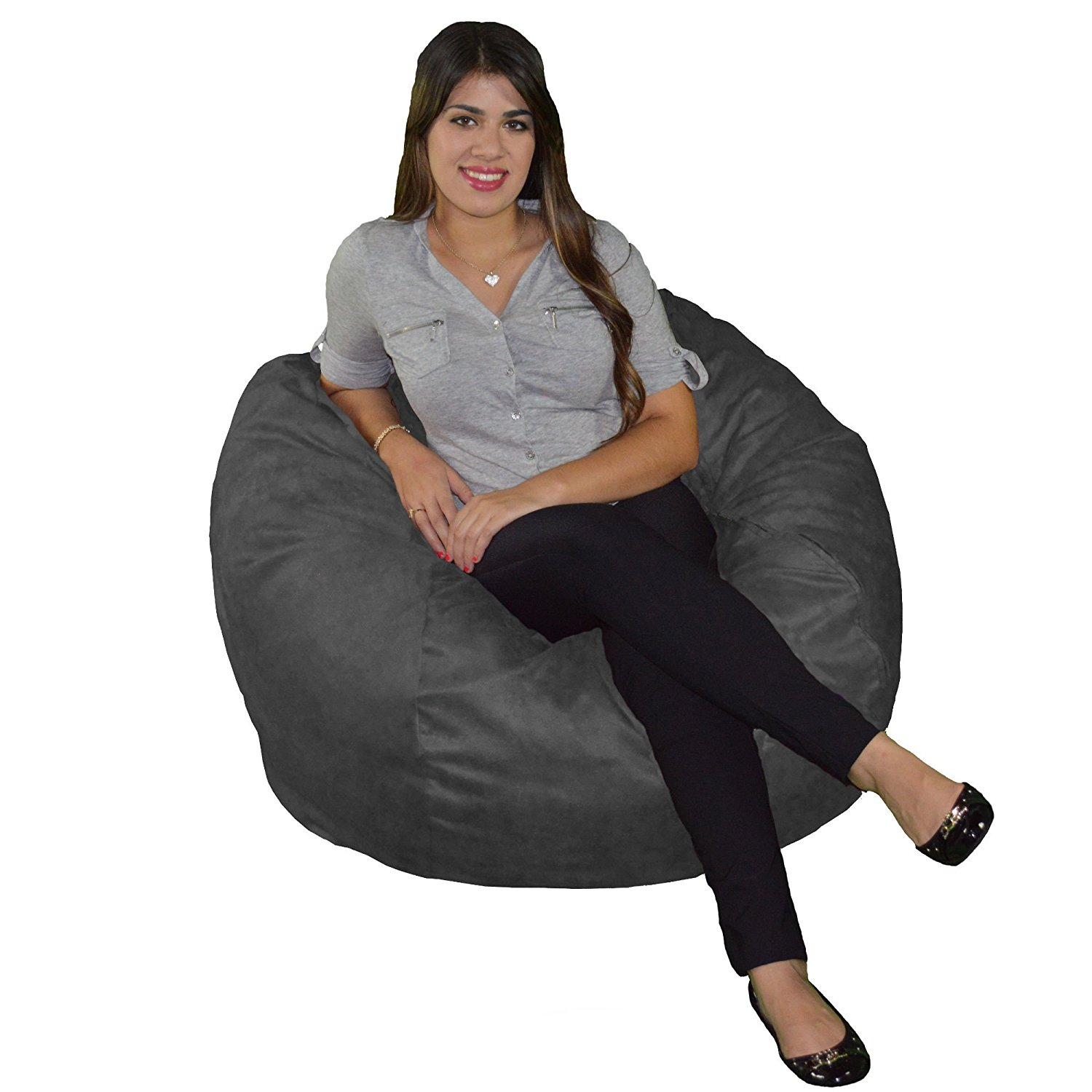 Cozy Sack Bean Bag Chair With Machine Wash Microfiber Cover