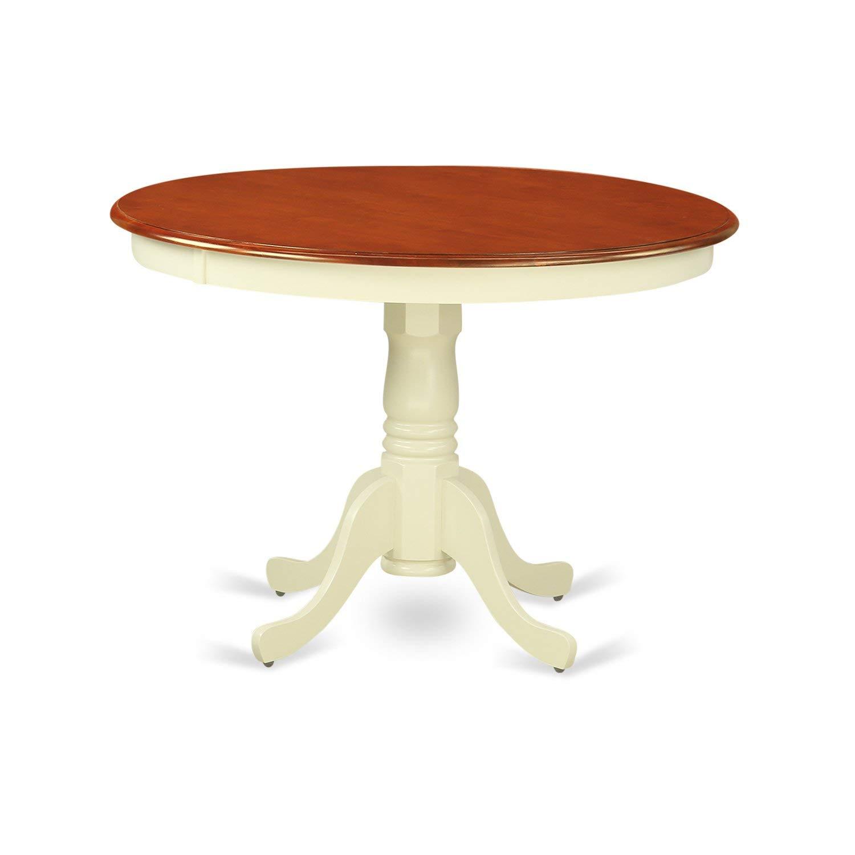 East West Furniture HLT-BMK-TP Hartland Round Table
