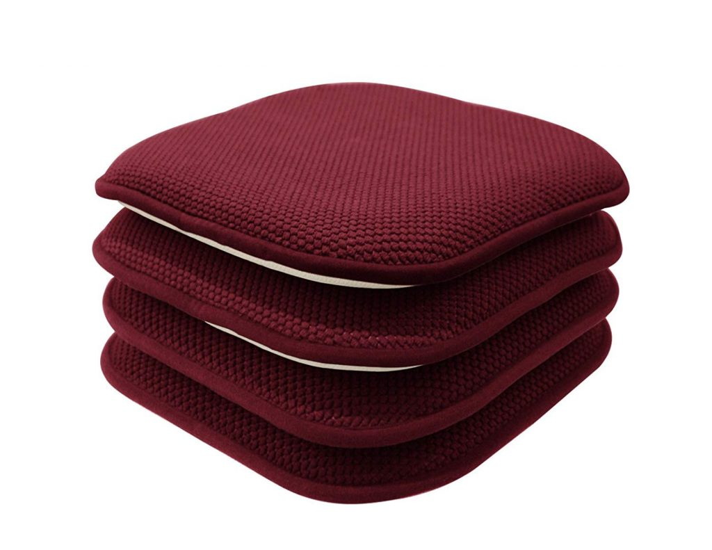 GoodGram Non-Slip Honeycomb Chair Cushions, 4-Pack