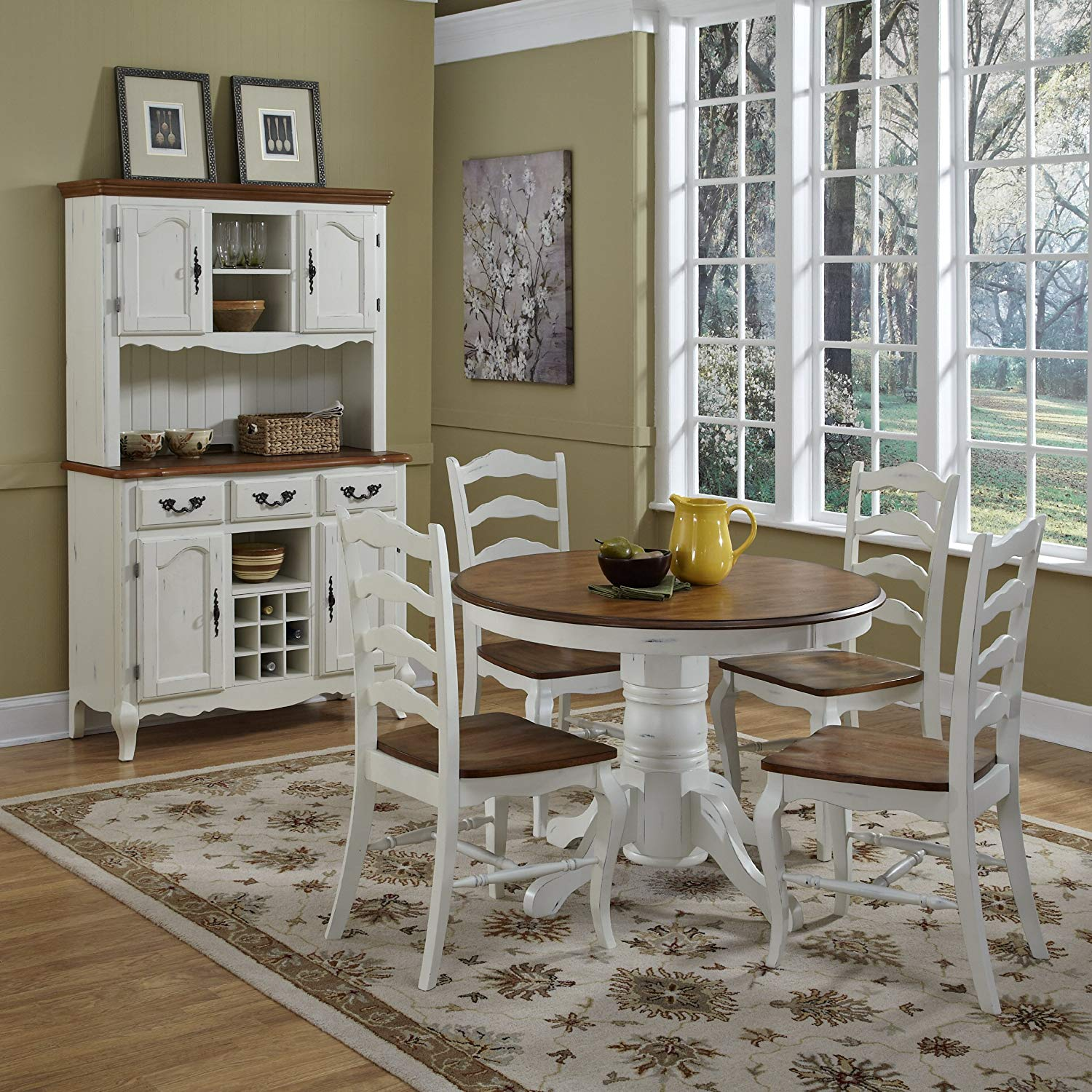 Home Styles 5518-30 The French Countryside Pedestal Table