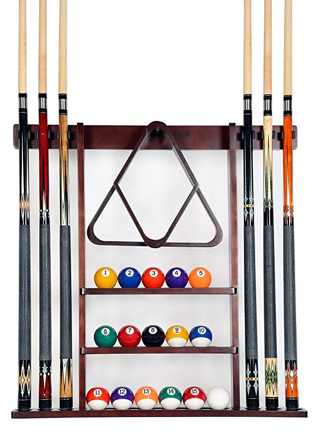 Iszy Billiards 6 Pool Cue Rack