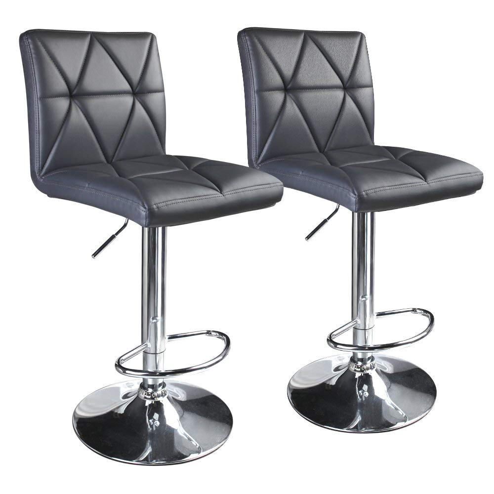 Leader Accessories Modern Swivel Grey Stool