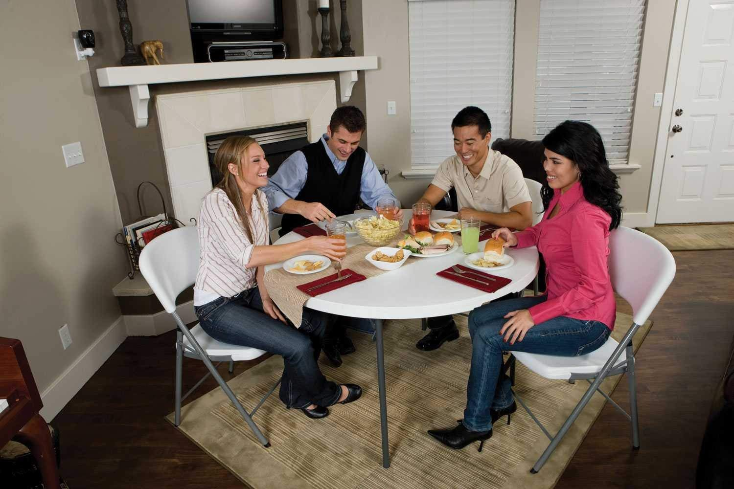 Lifetime 280064 Commercial Fold-In-Half Round Table
