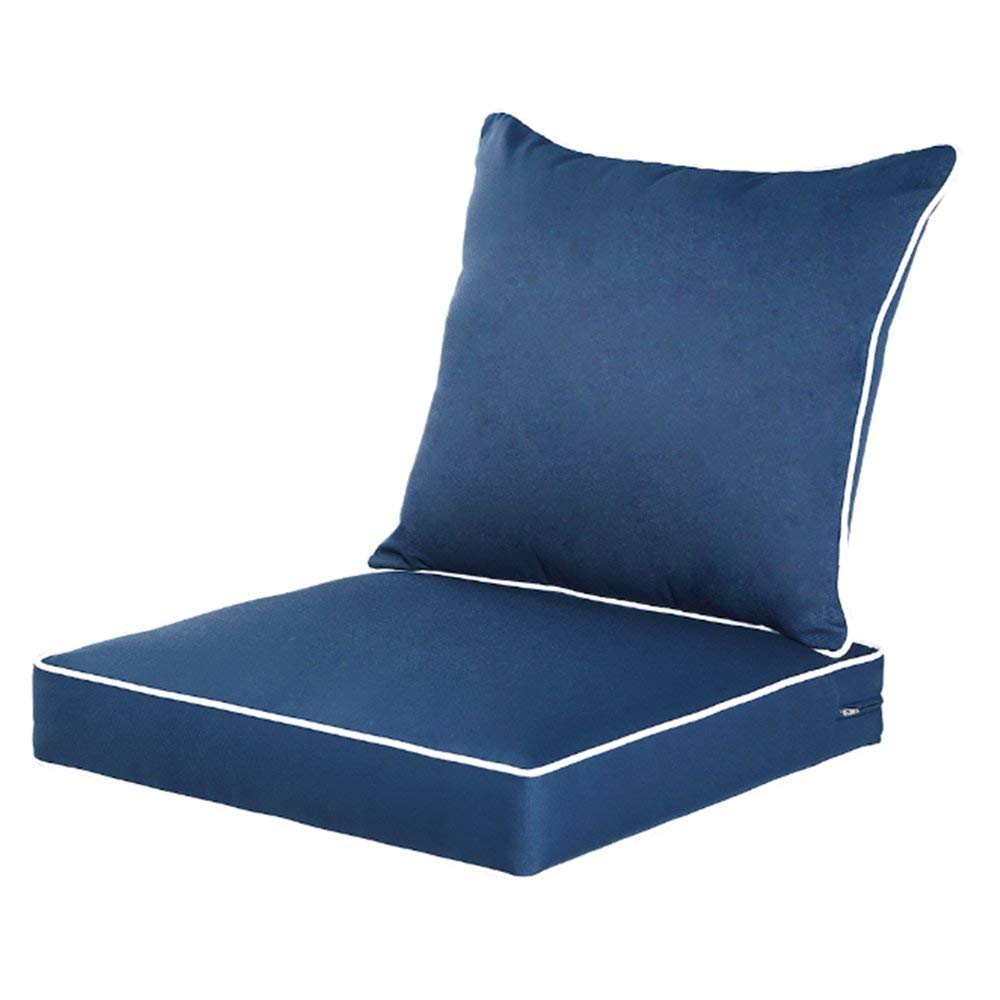 Qilloway Outdoor/Indoor Deep Chair Cushions Set
