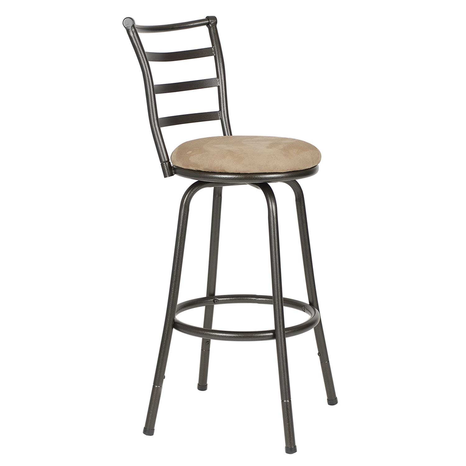 Roundhill Furniture Round Seat Bar Counter Stool