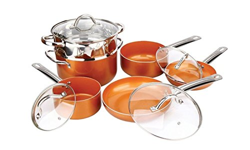 Copper H-02628 10-Piece Luxury Induction Cookware