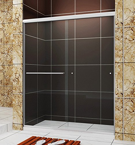 SUNNY SHOWER Frameless Bypass Sliding Shower Door, B020