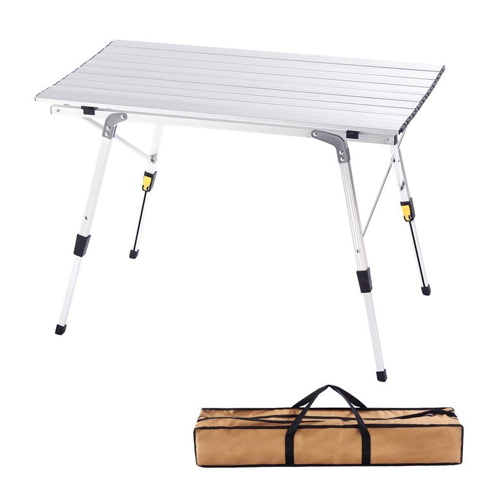 CampLand Aluminum Heights Adjustable Folding Table