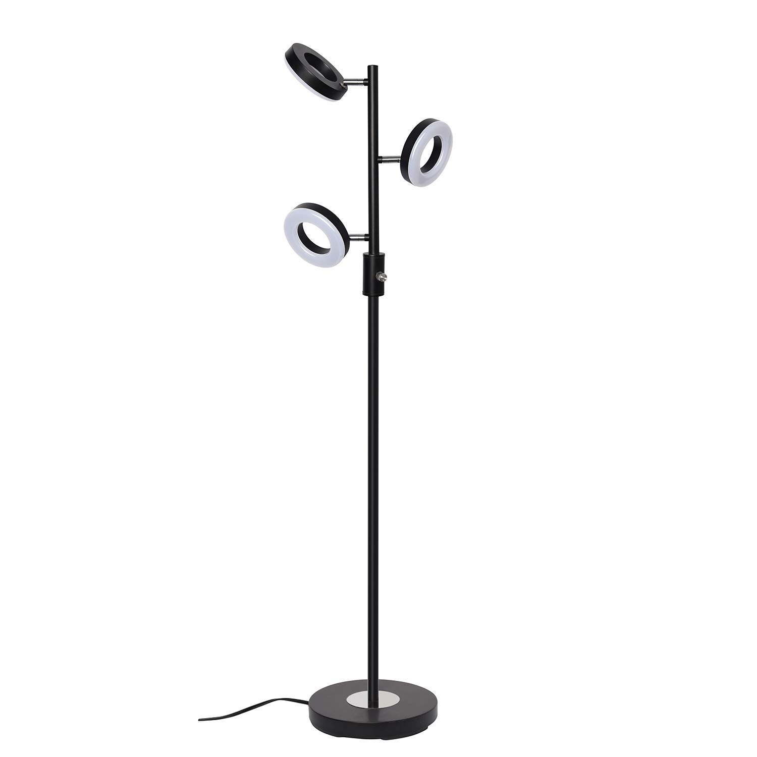 SUNLLIPE 3 Lights Floor Lamp Adjustable Stand Lamp