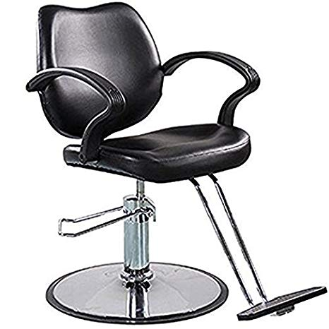 FlagBeauty Black Hydraulic Barber Styling Chair
