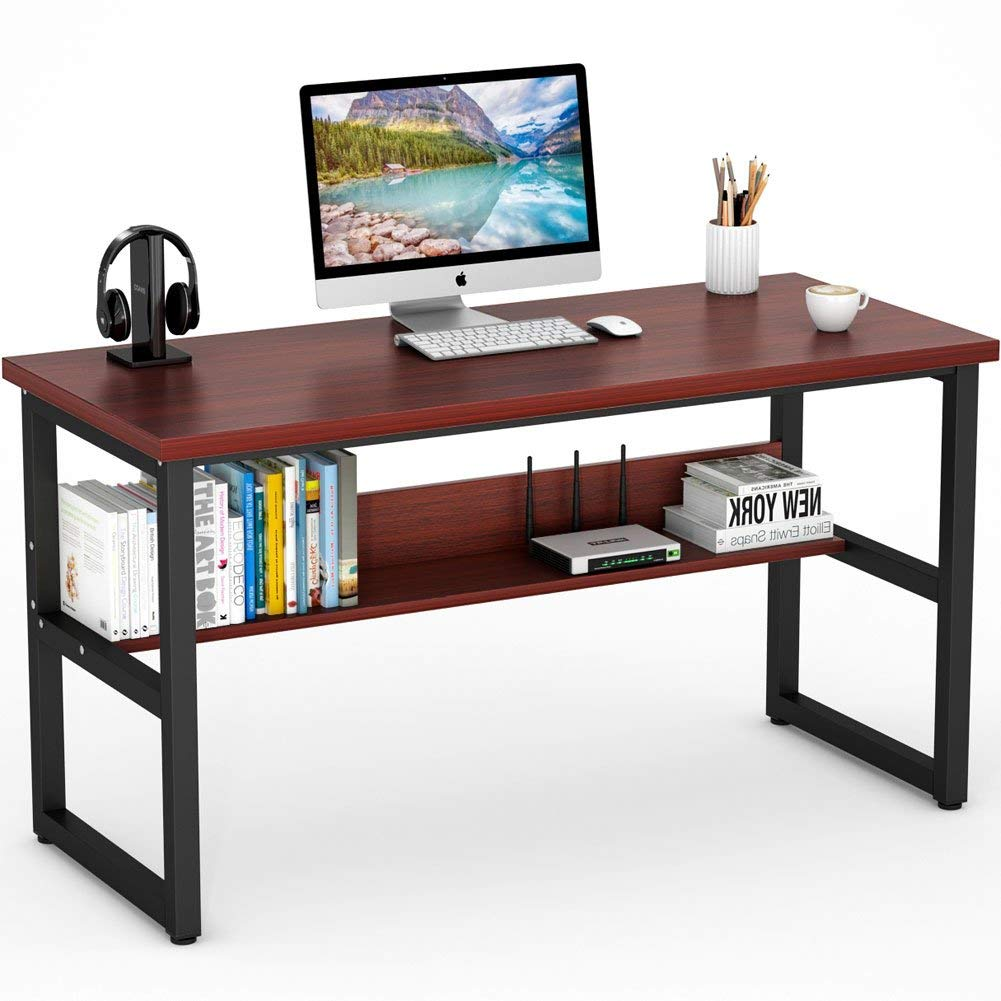 Tribesigns Computer Desk with Bookshelf