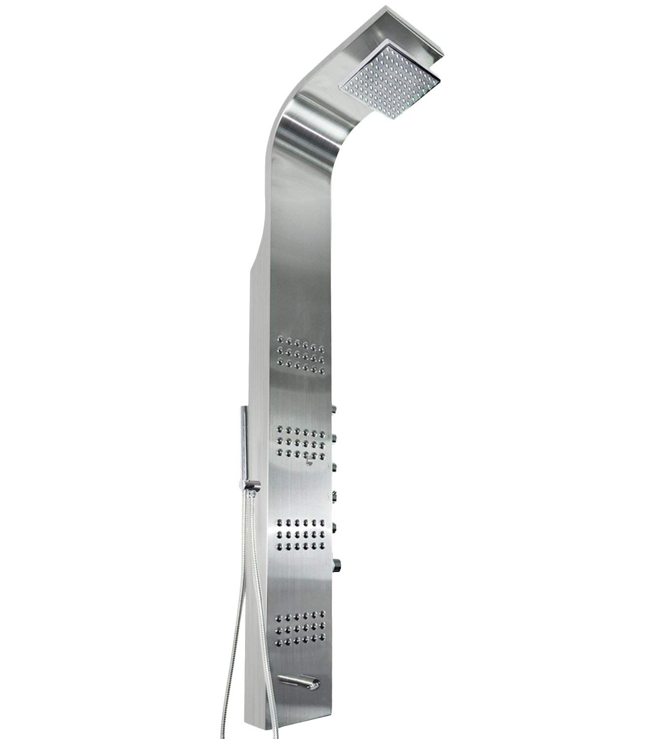 "AKDY AZ-8727B 59"" Thermostatic Stainless Steel Rainfall Shower Panel"