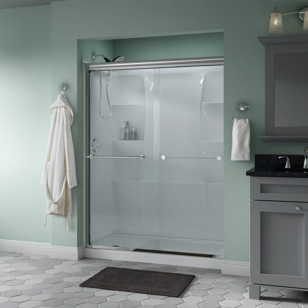 Delta Showers Door Semi-Frameless Sliding Glass Shower Door, SD172311