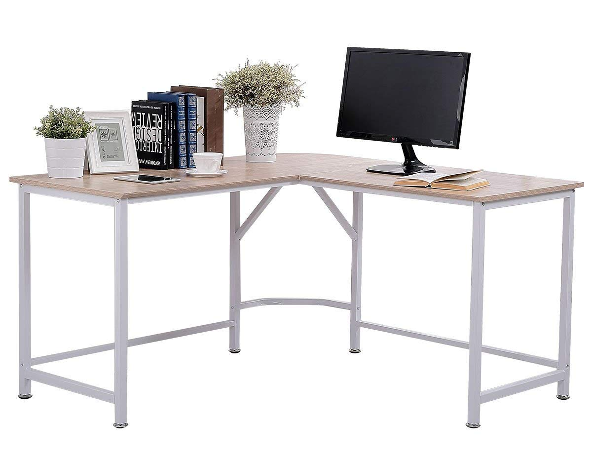 TOPSKY L-Shaped Corner Computer Desk