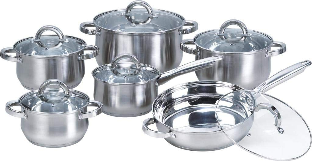 Heim Concept 12-Piece Induction Stainless Steel Cookware Set
