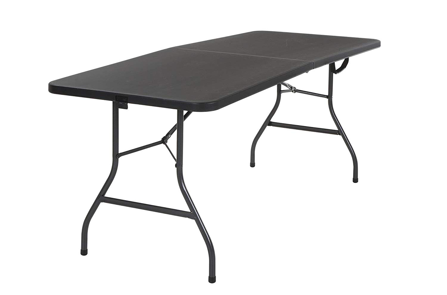 Cosco Deluxe Fold-in-Half Blow Molded Table, 6 ft by 30 inches