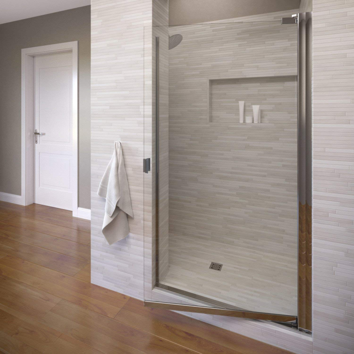 Basco Shower Door Classic Semi-Frameless Pivot Shower Door