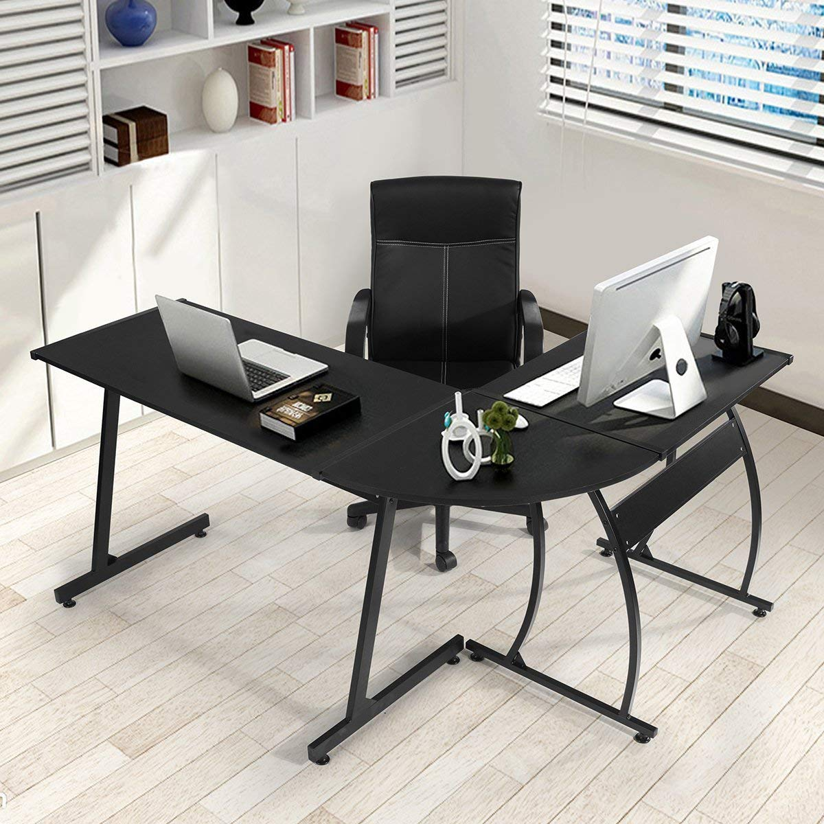 GreenForest L-Shape Computer Desk