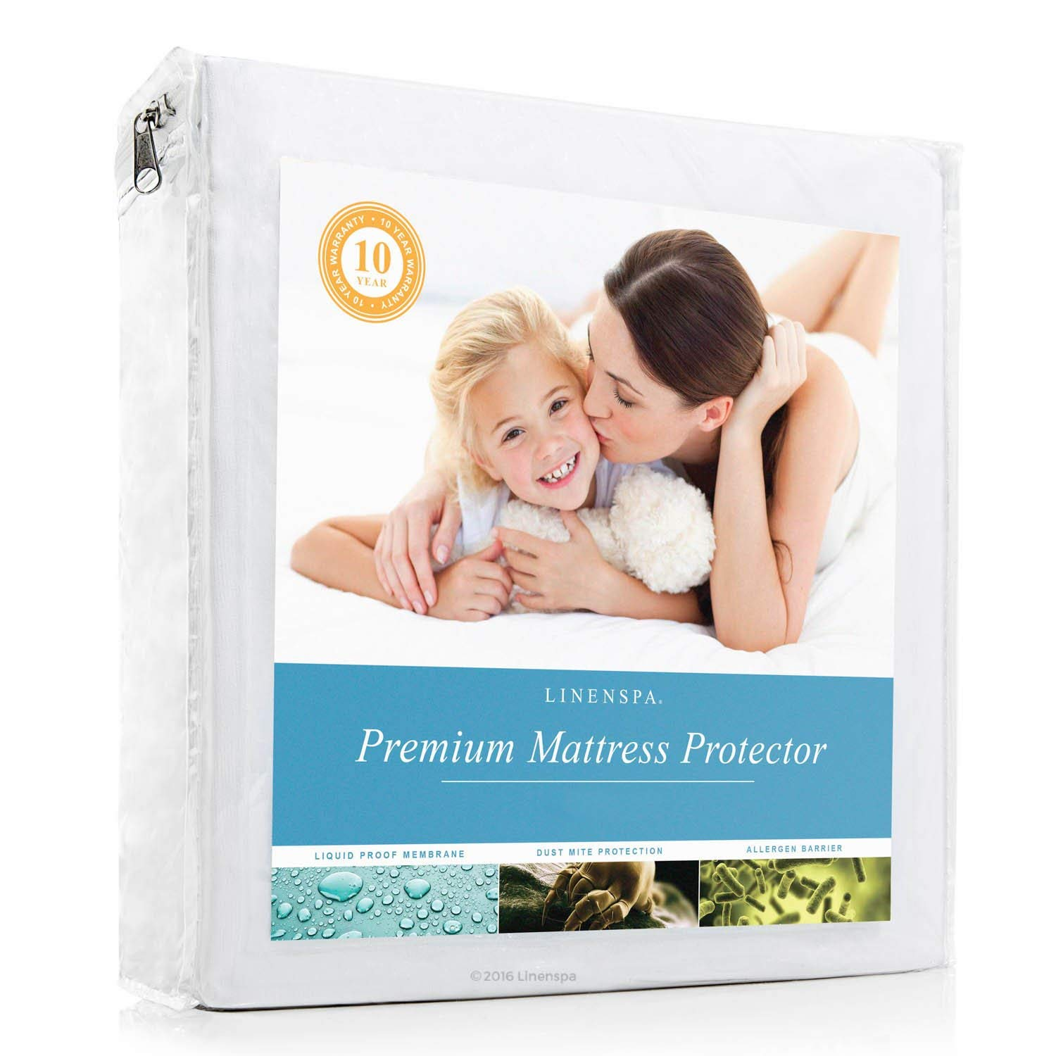 LINENSPA Waterproof Mattress Protector
