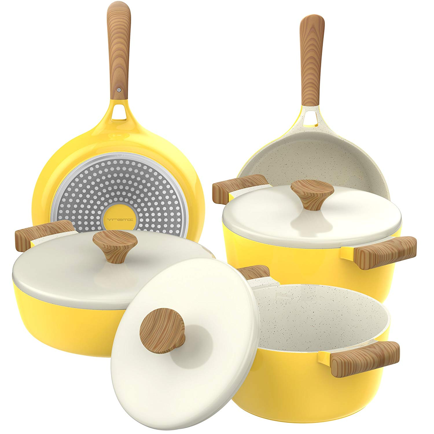 Vremi 8-Piece Ceramic Non-Stick Induction Cookware