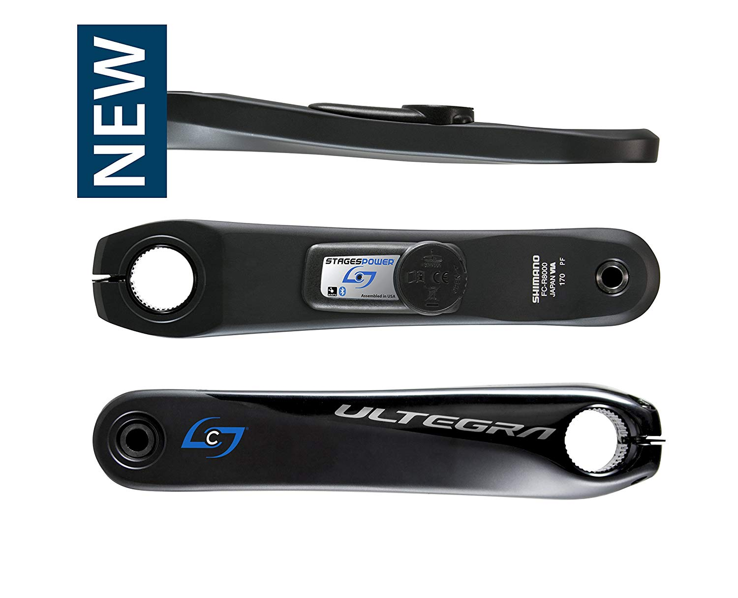 STAGES CYCLING 172.5 mm GEN 3 Stages Power L, ULTEGRA R8000