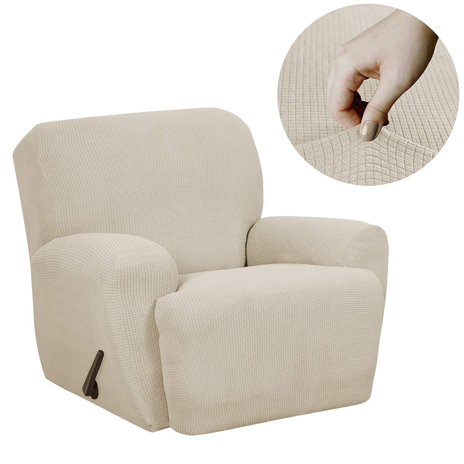 MAYTEX Reeves Stretch recliner Chair Cover with Side Pocket