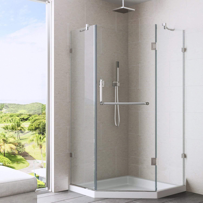 VIGO Piedmont 36 x 36-in. Frameless Neo-Angle Shower Enclosure