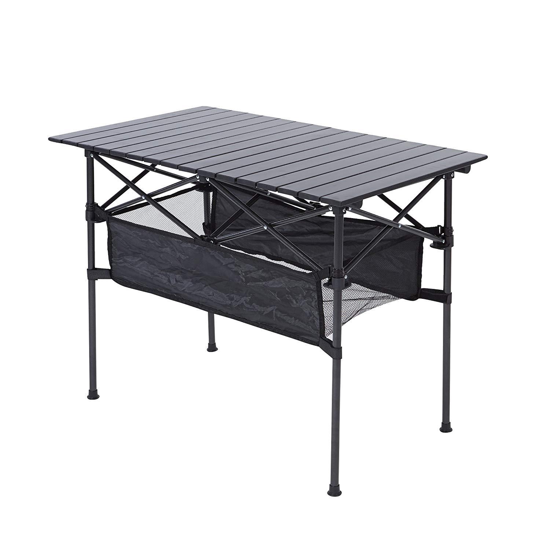 RORAIMA Easy Setup Portable Aluminum Folding Table