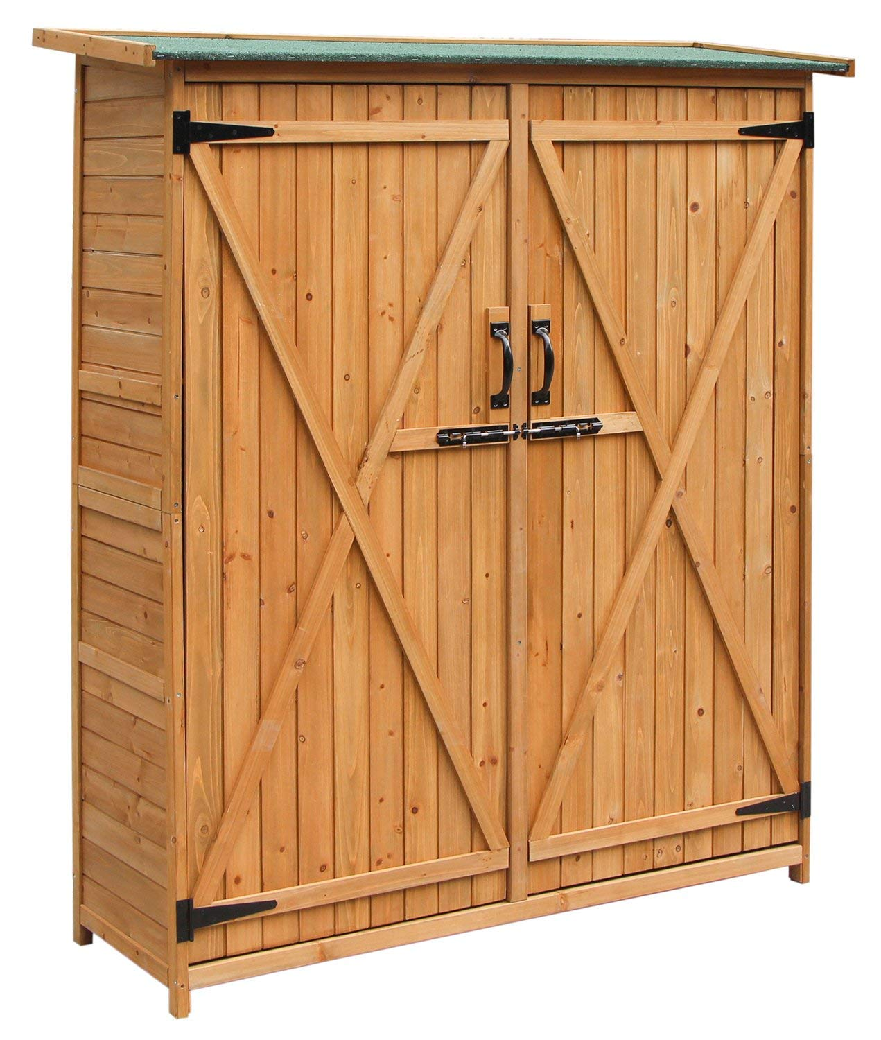 Merax Wooden Outdoor Garden with Fir Wood Storage Shed