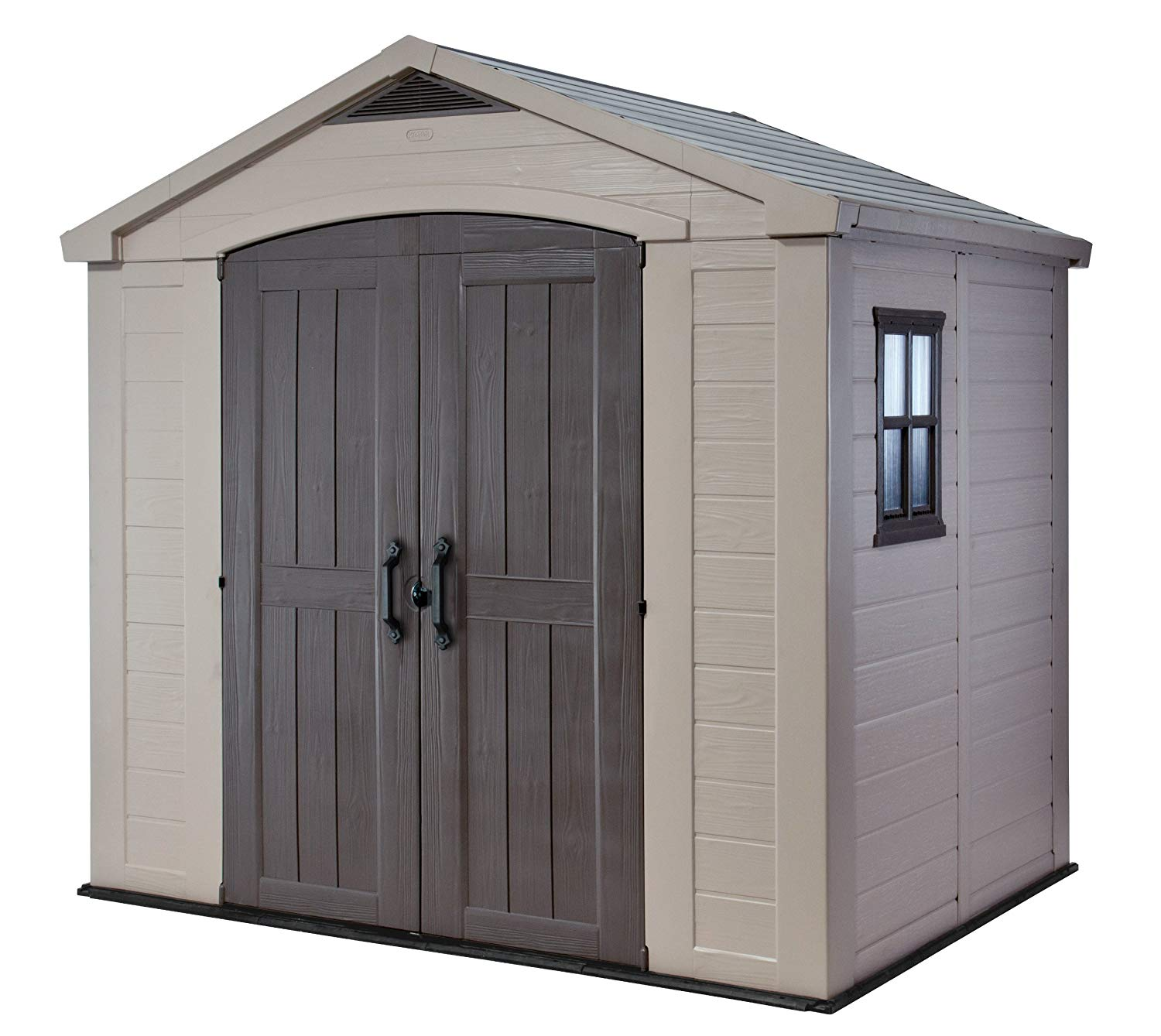 Keter Factor Large 8 x 6 ft. Resin Outdoor Backyard Garden Storage Shed