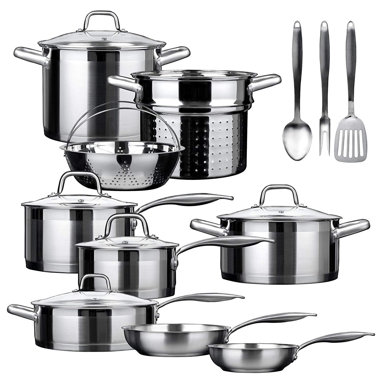 Duxtop SSIB-17 Induction Cookware Set