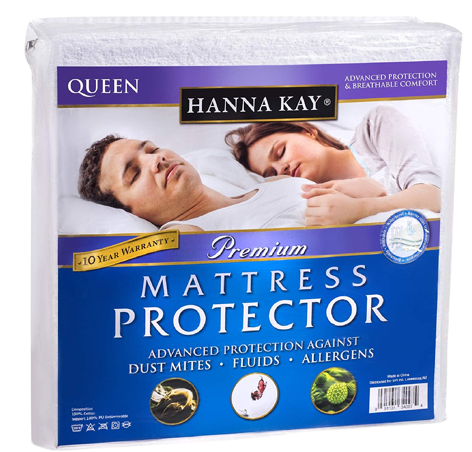 Hanna Kay Waterproof Mattress Protector
