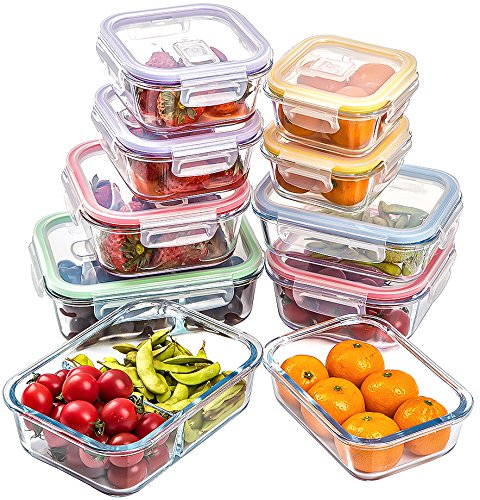 Jalousie Borosilicate Storage Containers Locking