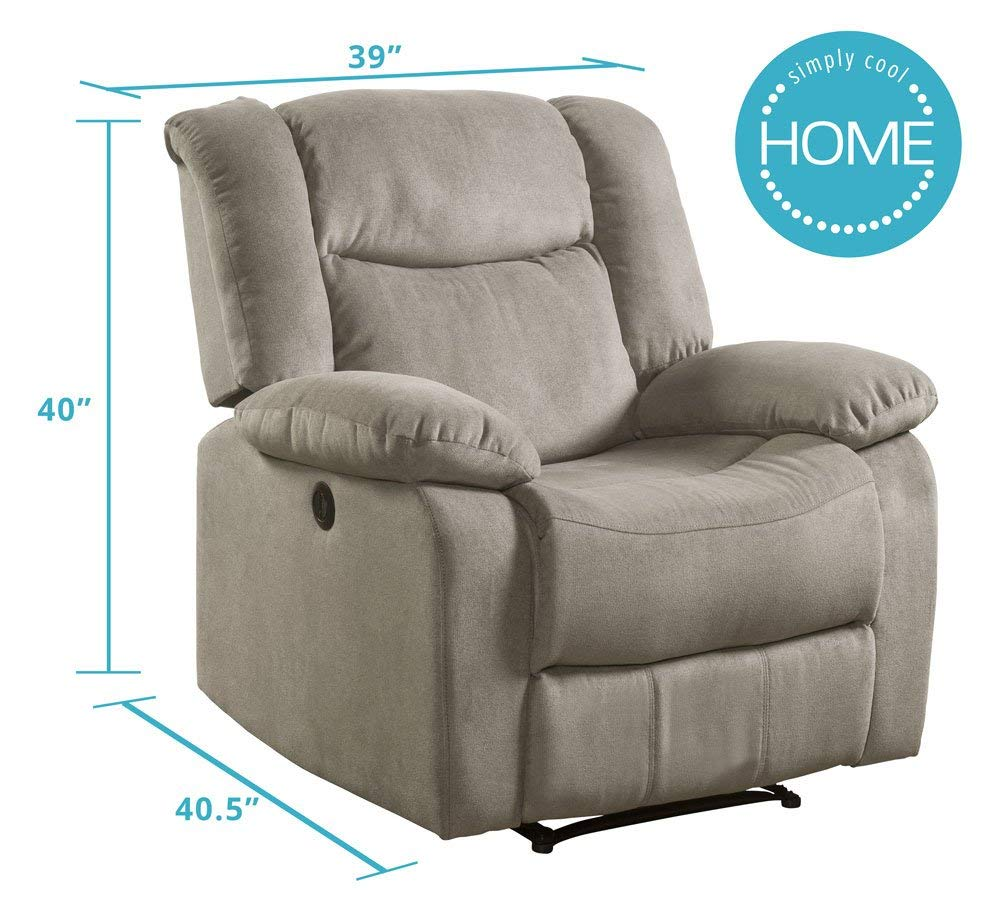 Recliner Fabric, Taupe from Lifestyle Power