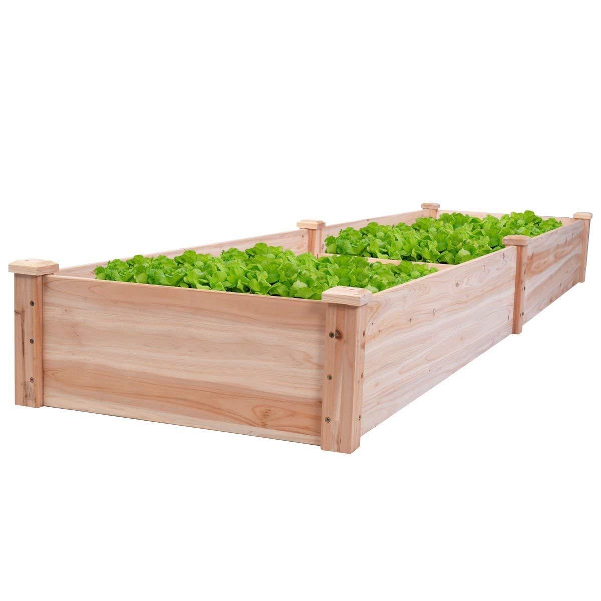 Giantex Wooden Raised Vegetable Garden Bed