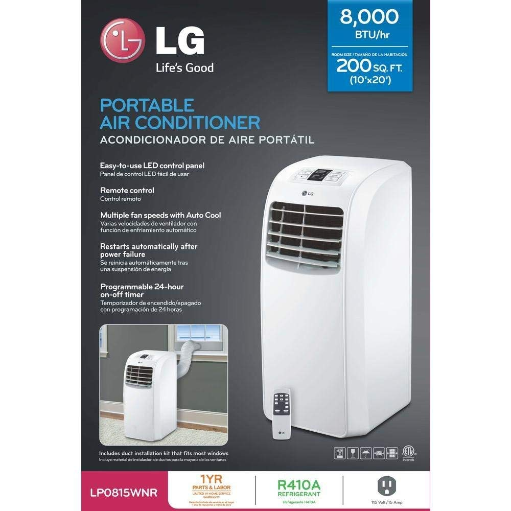 LG 115V Cooling Only Portable Air Conditioner, LP0815WNR
